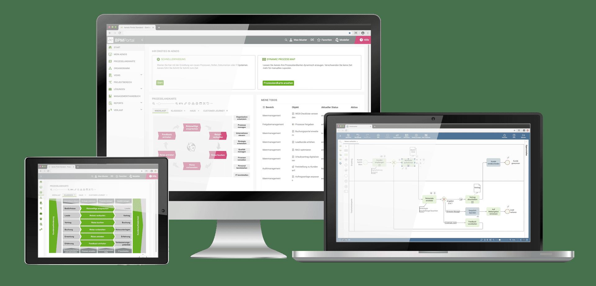 BPM|Free auf Monitor, Laptop und Tablet